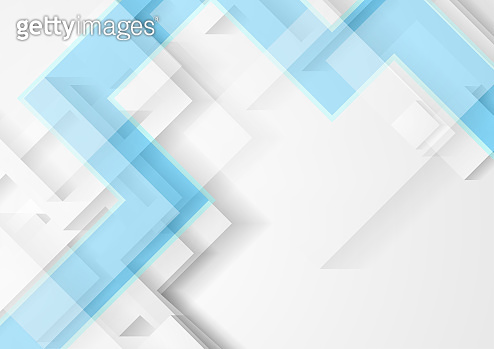 Abstract light grey and blue technology geometric background