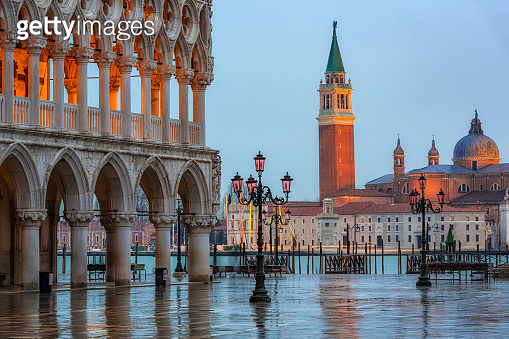 Piazza San Marco at dusk, Venice