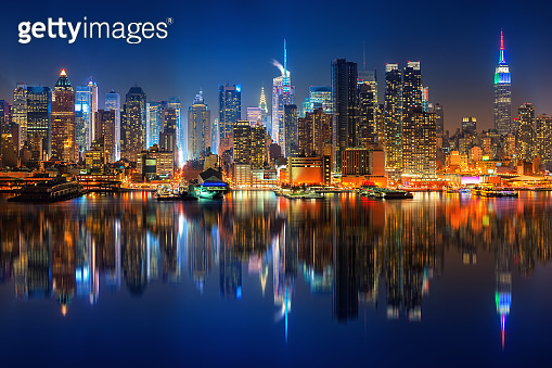 View on Manhattan at night