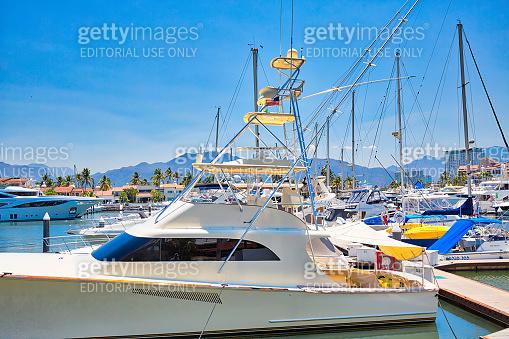 Marina and yacht club area in Puerto Vallarta