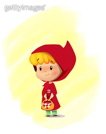 Red hat cartoon girl.
