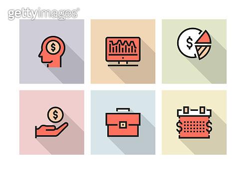BUSINESS ECONOMICS ICON CONCEPT