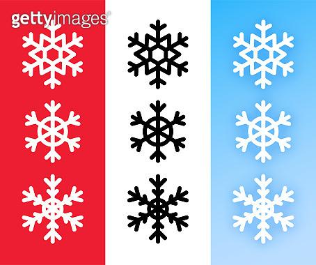 Snowflake icon set for Christmas holiday decoration