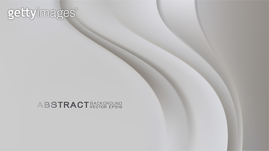 Abstract trendy white background with strip curve movement and copy space, Vector illustration