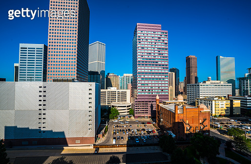 Perfect summer day in Denver Colorado downtown