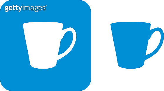 Blue Coffee Mug Icons B