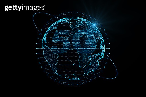 5g technology with digital earth