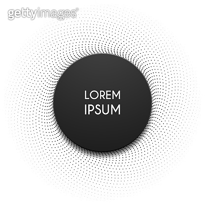 black circle shape template on white background
