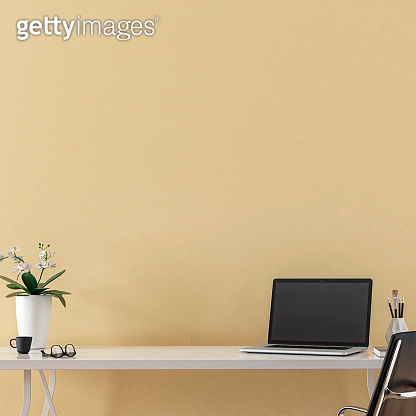 Workdesk with decoration and copy space