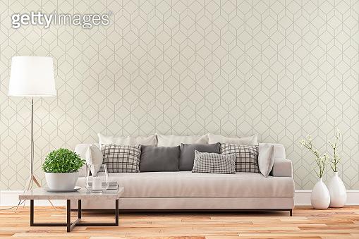 Elegant living room with sofa