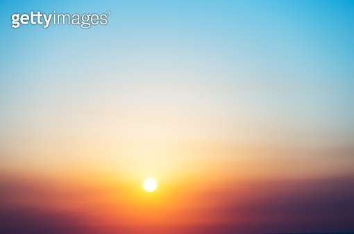 Beautiful sunrise sky for background