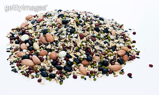 Collection of beans and grains