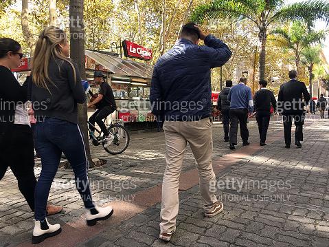 People walking on pedestrian street