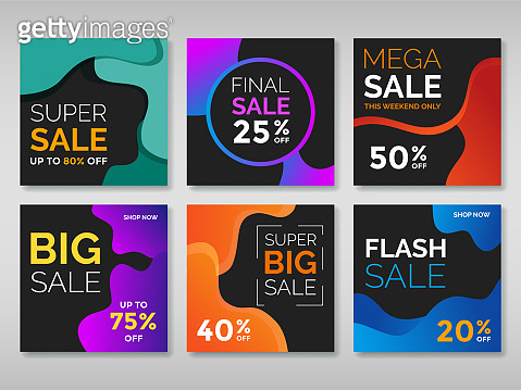 Abstract sale web banner for social media. Vol.2