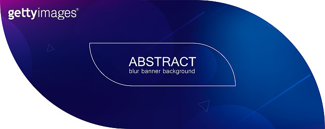 Abstract banner with gradient shapes