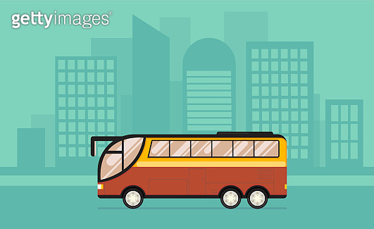 Bus in flat style. Public transport. Vector