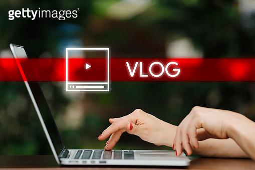 Vlog, Video Advertising Flat Icon