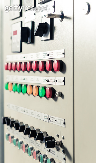 control panel of electrical measuring machine