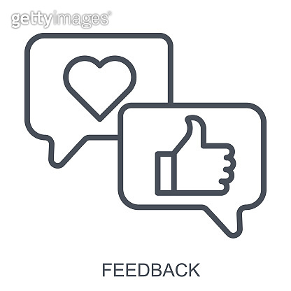 Feedback outline concept. Customer service satisfaction. Flat vector