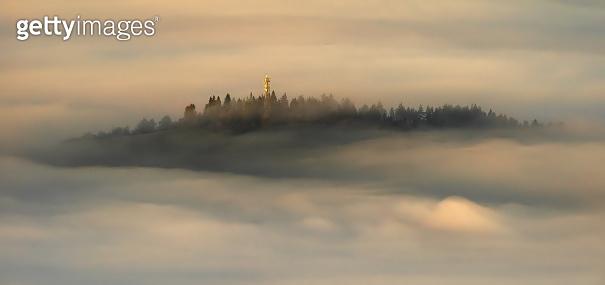Pieniny sunrise fog