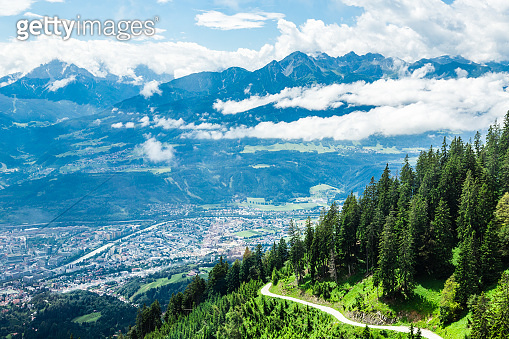 Scenic View in Innsbruck, East Tyrol, Austria