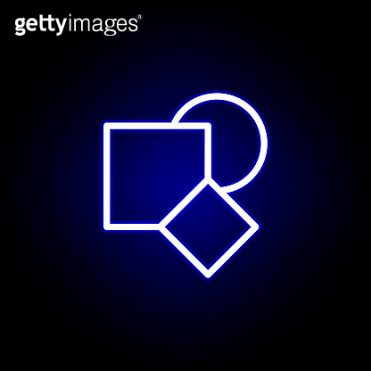 shapes icon in neon style. Can be used for web, logo, mobile app, UI, UX