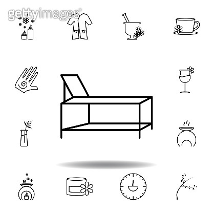 spa bed outline icon. Detailed set of spa and relax illustrations icon. Can be used for web, logo, mobile app, UI, UX