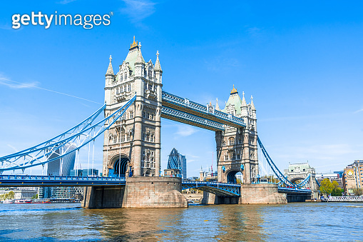 Tower Bridge on a bright sunny day