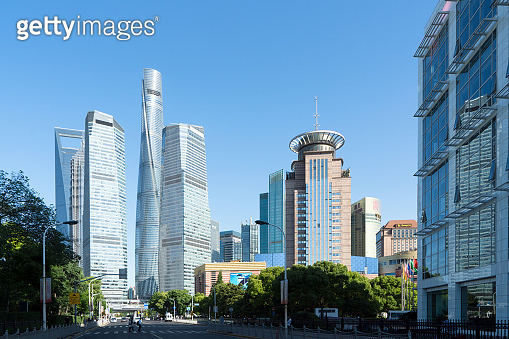 Modern building of the lujiazui financial centre