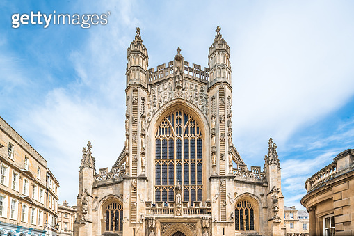 The picture of the entrance of bath abbey