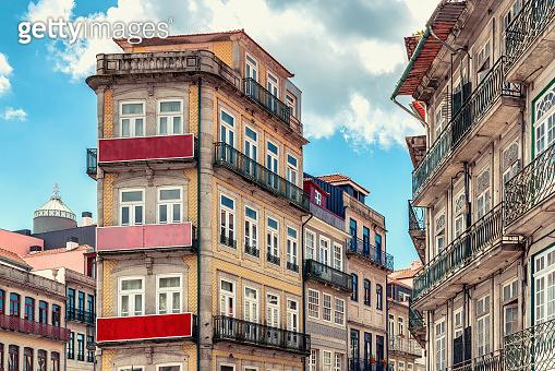 Downtown district in Porto, Portugal