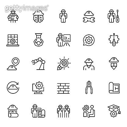 Set of engineering icons