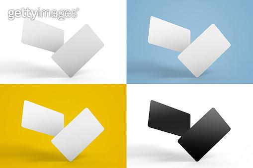 Set of credit card or business card mockups images for your design presentation