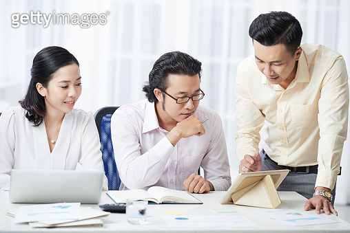 Business people working in team at office