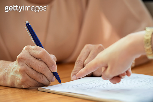 Business people concluding a business contract