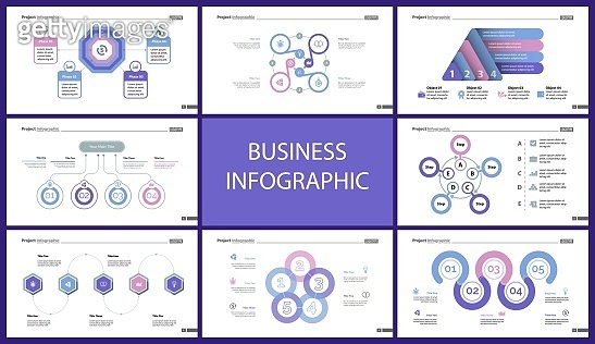 Set of startup or investment concept infographic charts (2)