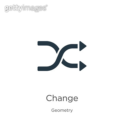 Change icon vector. Trendy flat change icon from geometry collection isolated on white background. Vector illustration can be used for web and mobile graphic design, logo, eps10
