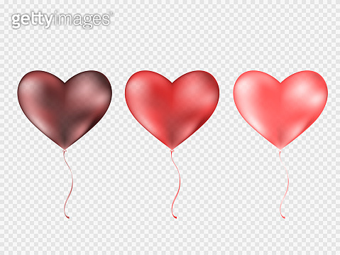 Balloons isolated on transparent background.