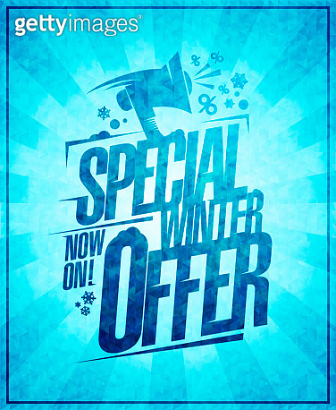 Special winter offer, winter sale banner concept