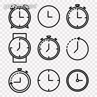 Clock Vector Icon Set