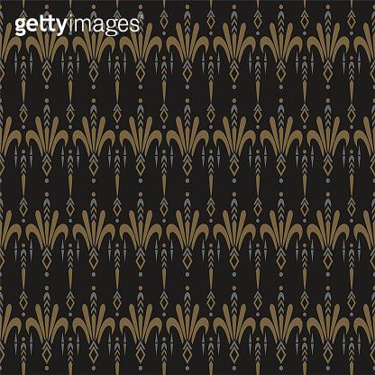 Background decoration. Modern seamless pattern. Dark background texture