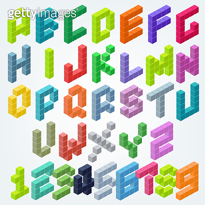 Alphabet font icon design template elements