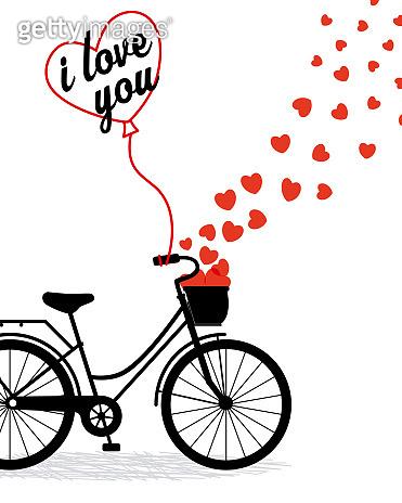 Cute bike with hearts