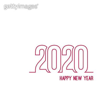 Creative happy new year 2020