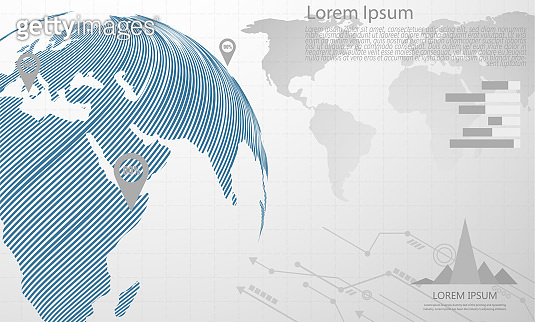 Global network connection. world map point Internet of Things, Computing Design technology Background