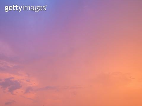 Beautiful idyllic Pastel Sunset Sky.Cloudscape Concept