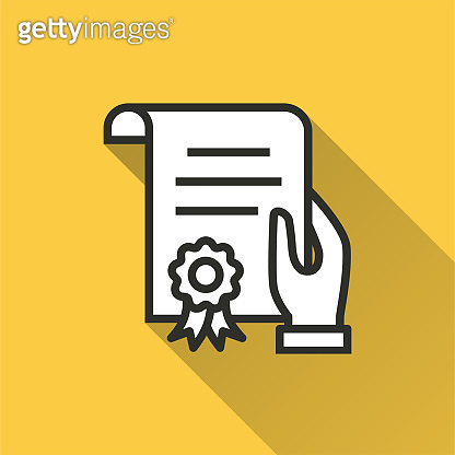 Certificate - vector icon for graphic and web design.