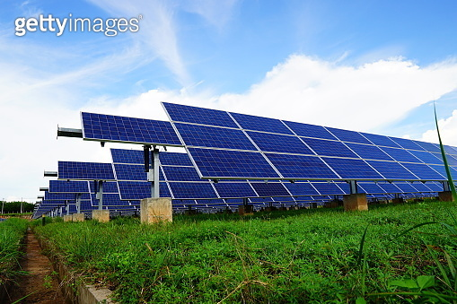 Solar panel, alternative electricity source, concept of sustainable resources, And this is a new system that can generate electricity more than the original, This's the sun tracking systems