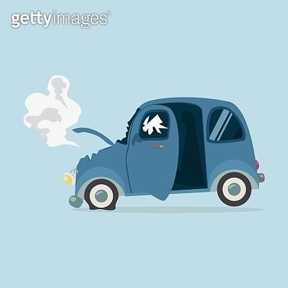 Mini Car accident vector