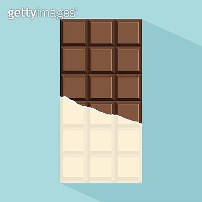 chocolate bar vector with long shadow
